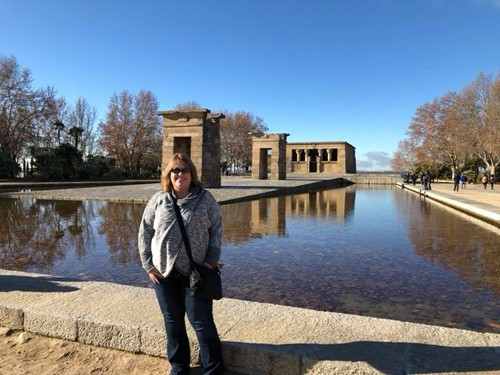 chaplin at temple of debod