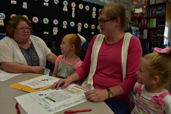 Shaw family meets Kindergarten Teacher Cynthia Bell