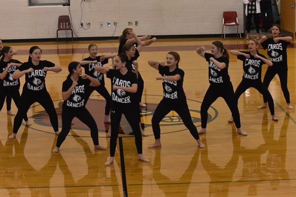 WCMS Dance Team performs routine