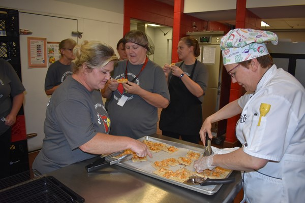 Chef Story also shared specialty nacho samples with WCHS Cook Priscilla Stinson