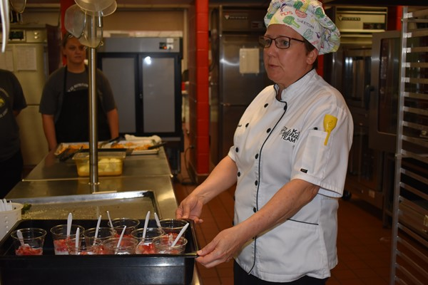 Chef Cyndie Story helps cooks