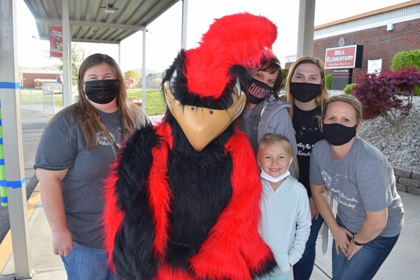 Everyone had fun hanging out with the Cardinal