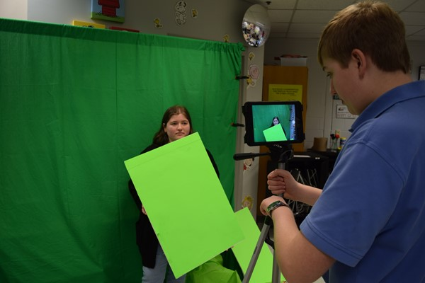 Green Screen station teaches students advanced techniques