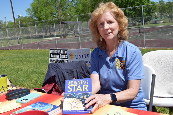Circuit Court Clerk Patricia Lay manned the Defensive Action Against Drugs booth