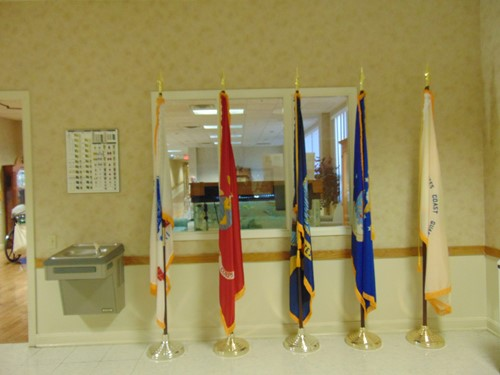 flags representing branches of military