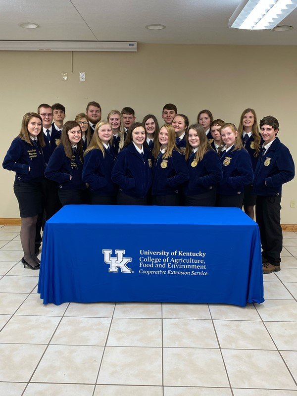 FFA members got to practice their speeches locally, before going to regional competition