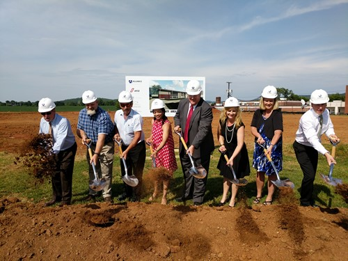 board members breaking ground