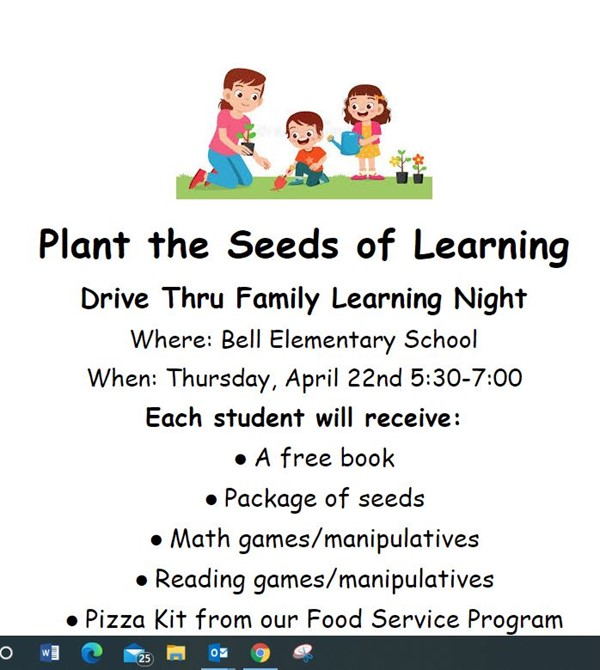 Plant the Seeds of Learning Night flyer