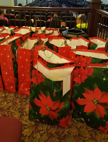 gift bags during the party