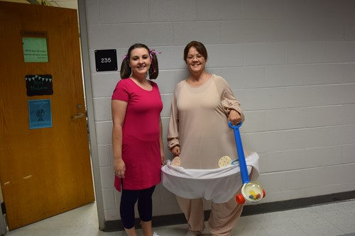 Teachers dress up