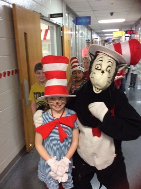 Students were inspired by Cat in the Hat to dress up like the character