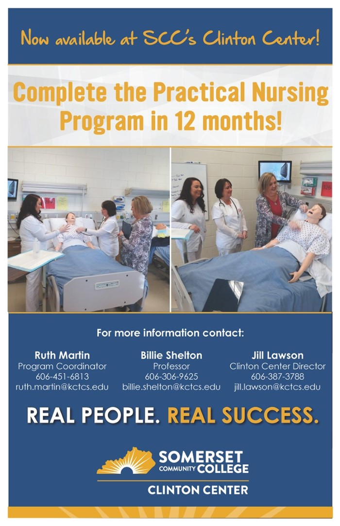 Clinton Center flyer for new nursing program
