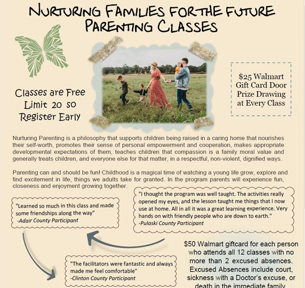 Top of Parenting Classes flyer