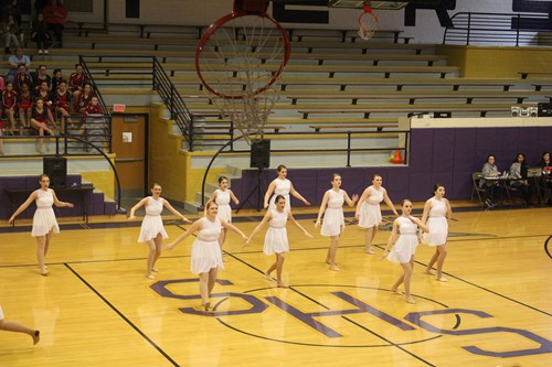 Dance Team during the jazz routine