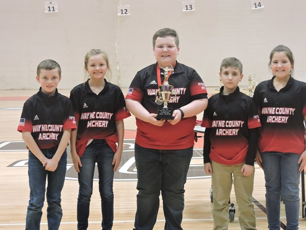 Elementary team placed 2nd overall Dylan Stephenson, Alyssia Hall, Brody Shelton, Tyler Pyles, and Olivia Hall