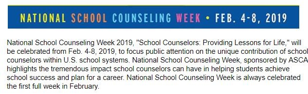 Thanks to Wayne County School Counselors for their many
