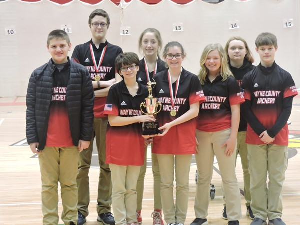 dle School team placed 1st; front row: Trey Pyles, Elizabeth Hoskins, Ameilia Ramsey, Breanna Stephenson, and Bob Lewis  back row: Wesley Jones, Callie Jones, and Kailey Neeley