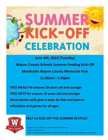 summer feeding kickoff flyer
