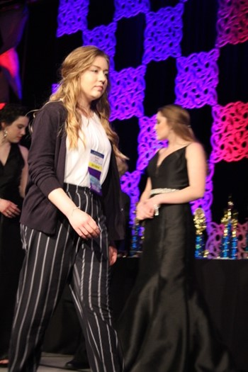 Rachel Rains placed fifth in Journalism