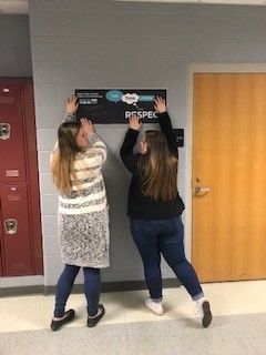 WCHS students placed Respect sign sin the hallways to support efforts.