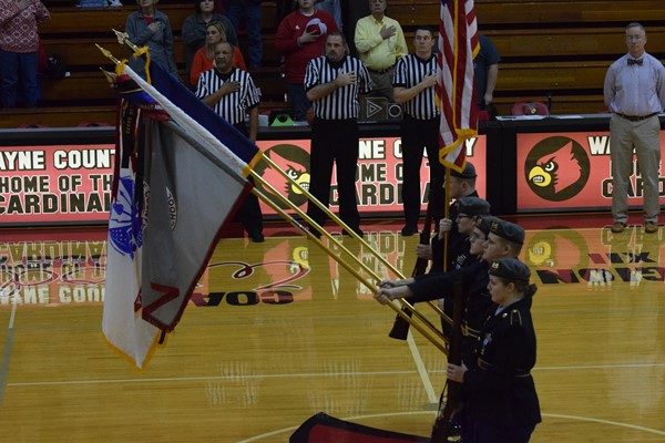 Color Guard presents the colors