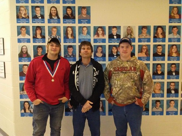 (L-R) Trent Godsey (1st place in Precision Machine), Mark Smith, and Johnny Crabtree (4th place in Precision Machine)