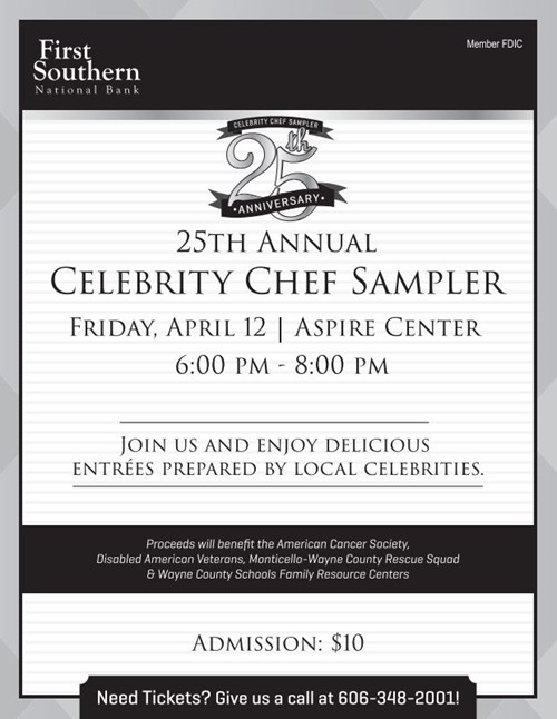 Poster for the celebrity chef sampler
