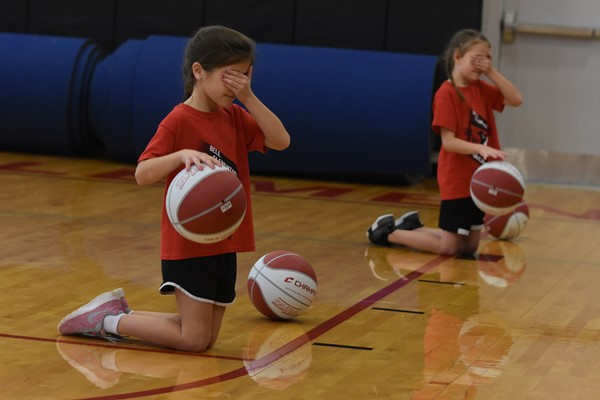 Dribblers covering their eyes