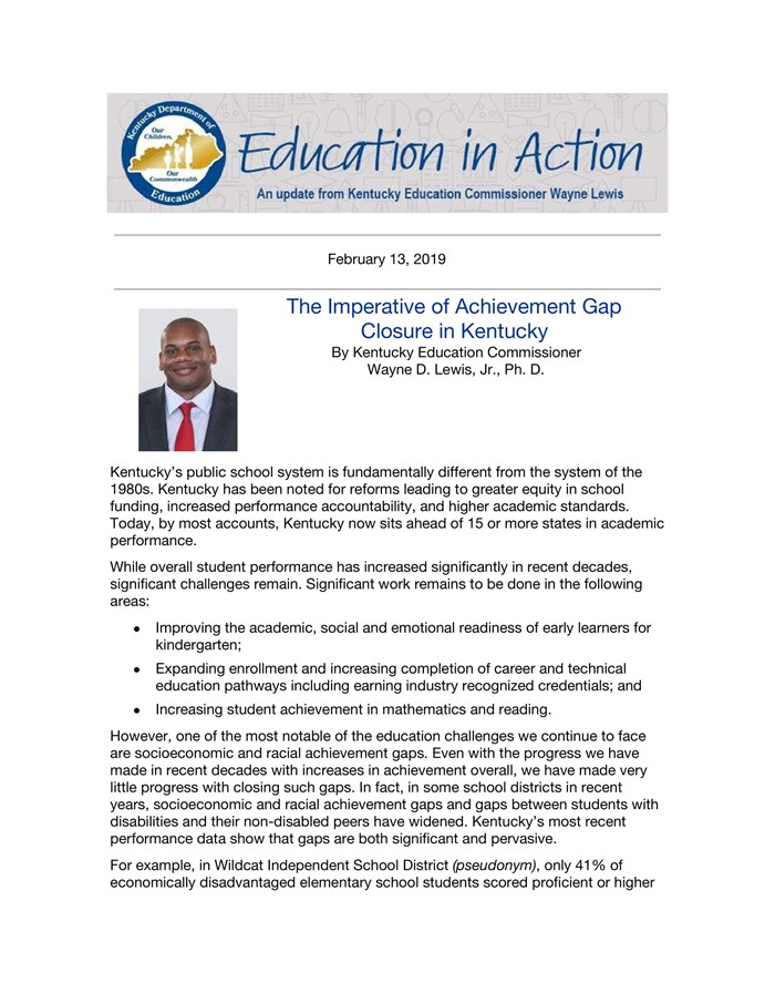 February 13 Achievement Gap