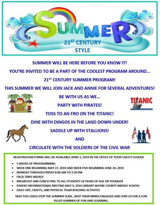 Monticello Elementary Summer Camp Flyer