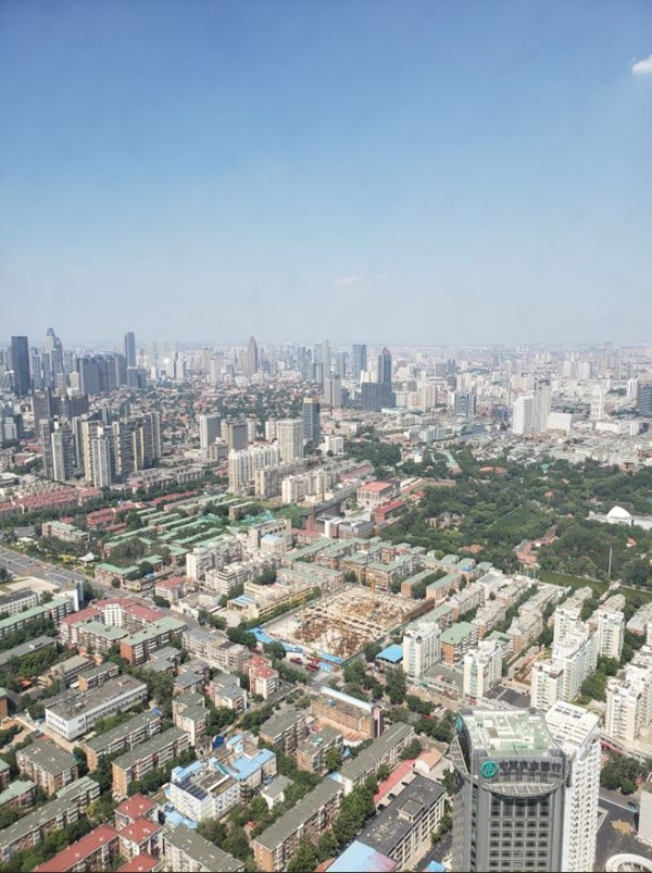 City of Tianjin from the top of the Tianjin TV Tower