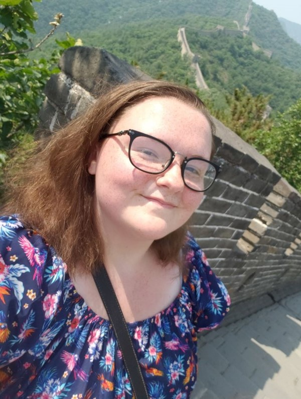 Natalie Hutchinson on the Great Wall