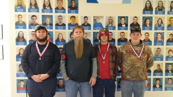 Transportation Tool ID left to right, Nick Alley 2nd place, Mark Burke, Johnathan Mansfield 3rd place, Johnny Crabtree 3rd place precision machine