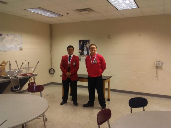Job Skill Demo A (L-R) Josias Conde (1st place), and Shawn Abbott (2nd place)