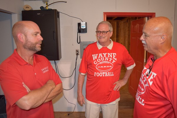 WCHS 1969 Football player conversing with radio stations