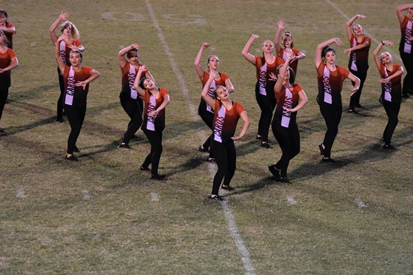 WCHS dance team preforms