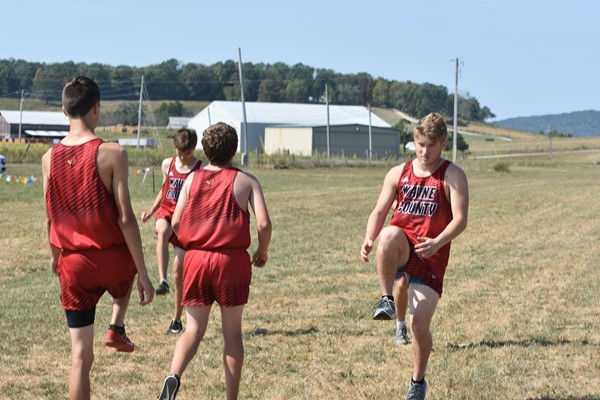 Cross Country Team warming up