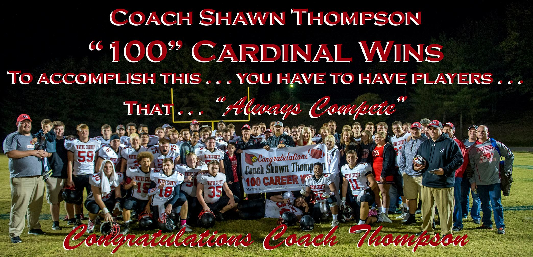 Coach Thomspon's 100th Win