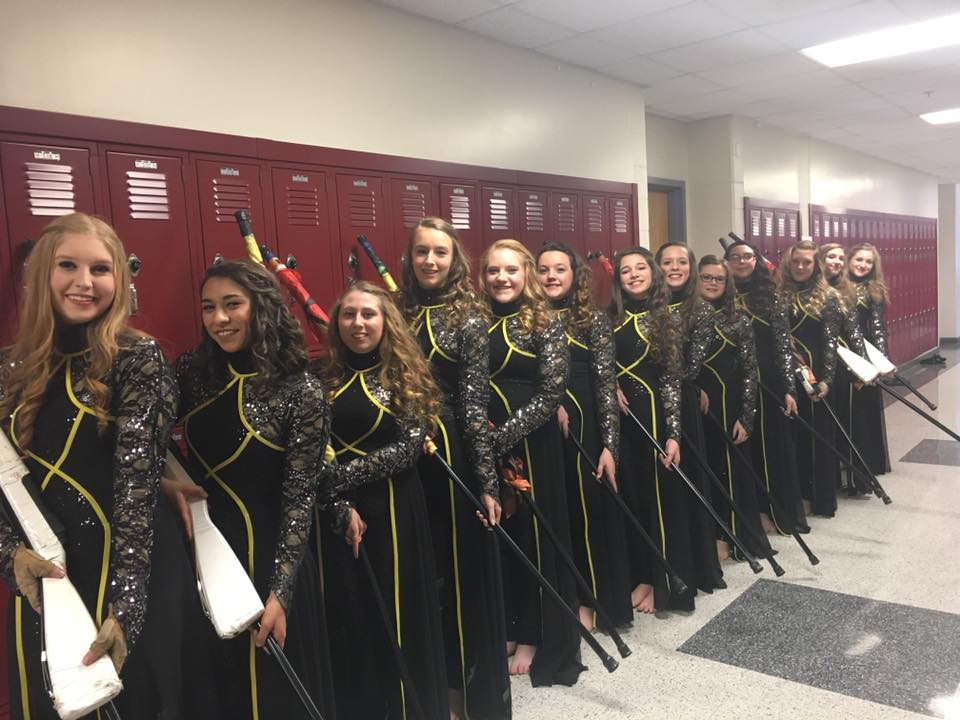 Wayne County High School congratulates the Winterguard for their success