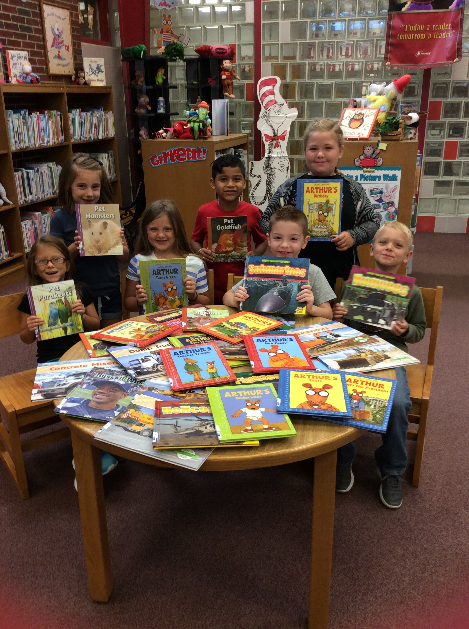 Bell Kids with the New Books