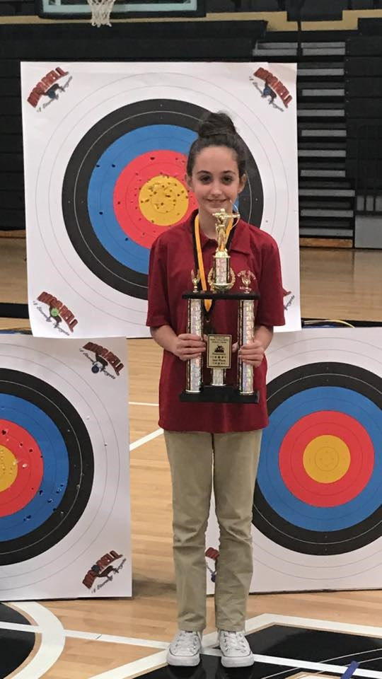 Brayleigh Butcher with her trophy