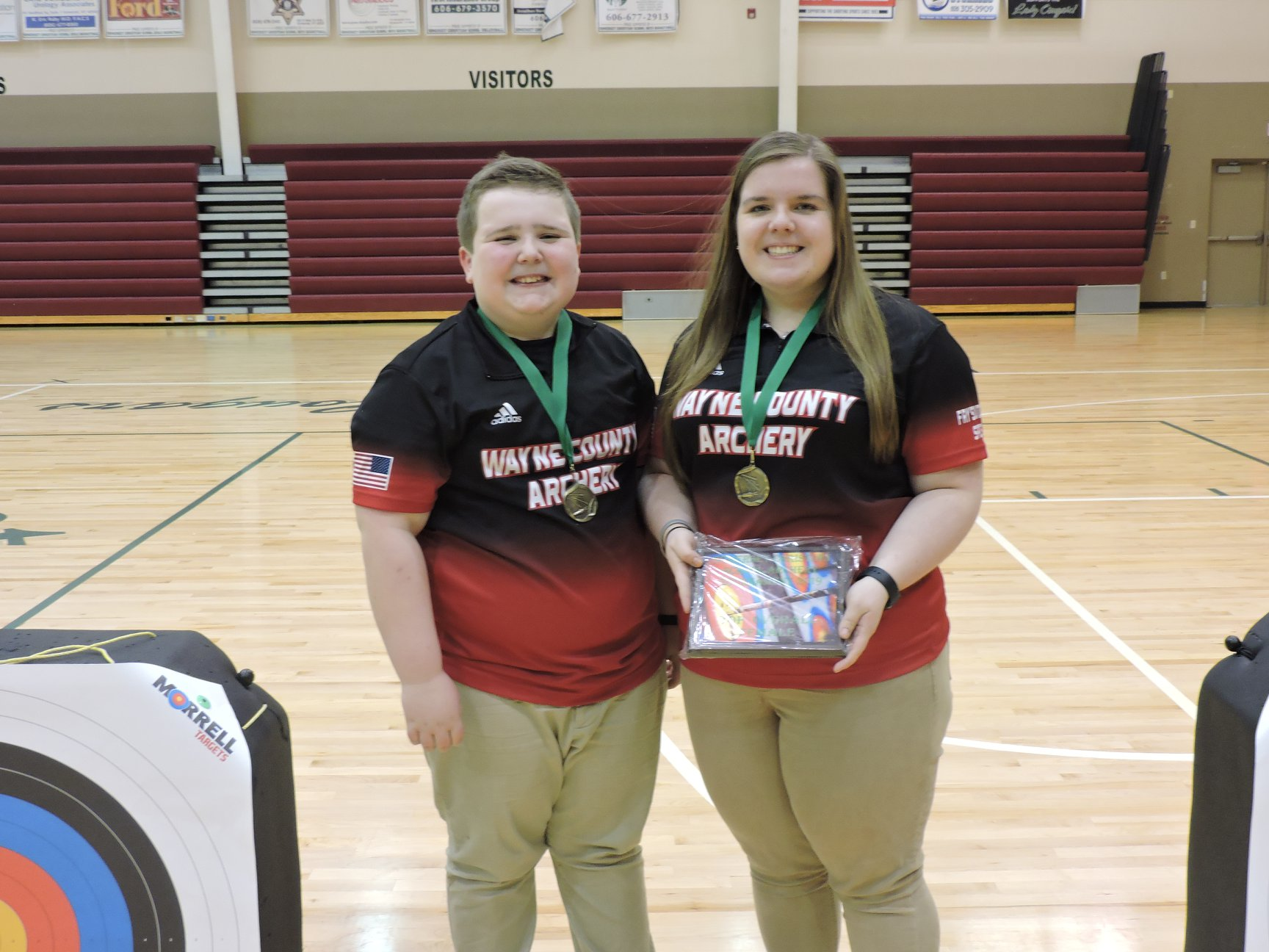 Brody Shelton-1st place Individual Elementary Male and Ragan Shelton-1st place High School Female and top overall female shooter of the tournament