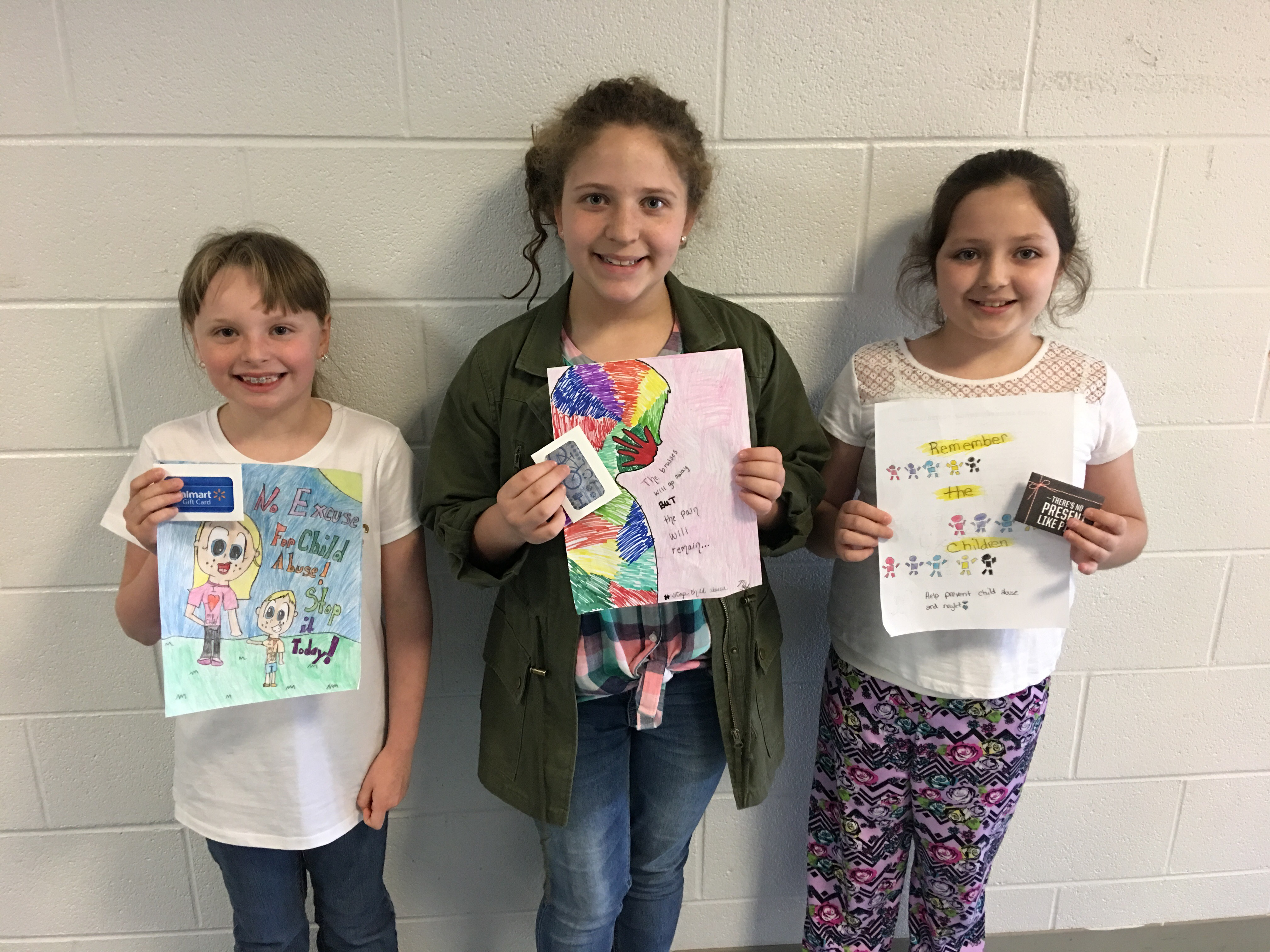 Poster contest winners Chloe Williams, Madelyn Frogge, and Leah Jones