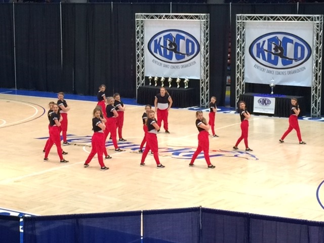 Dance Team competing
