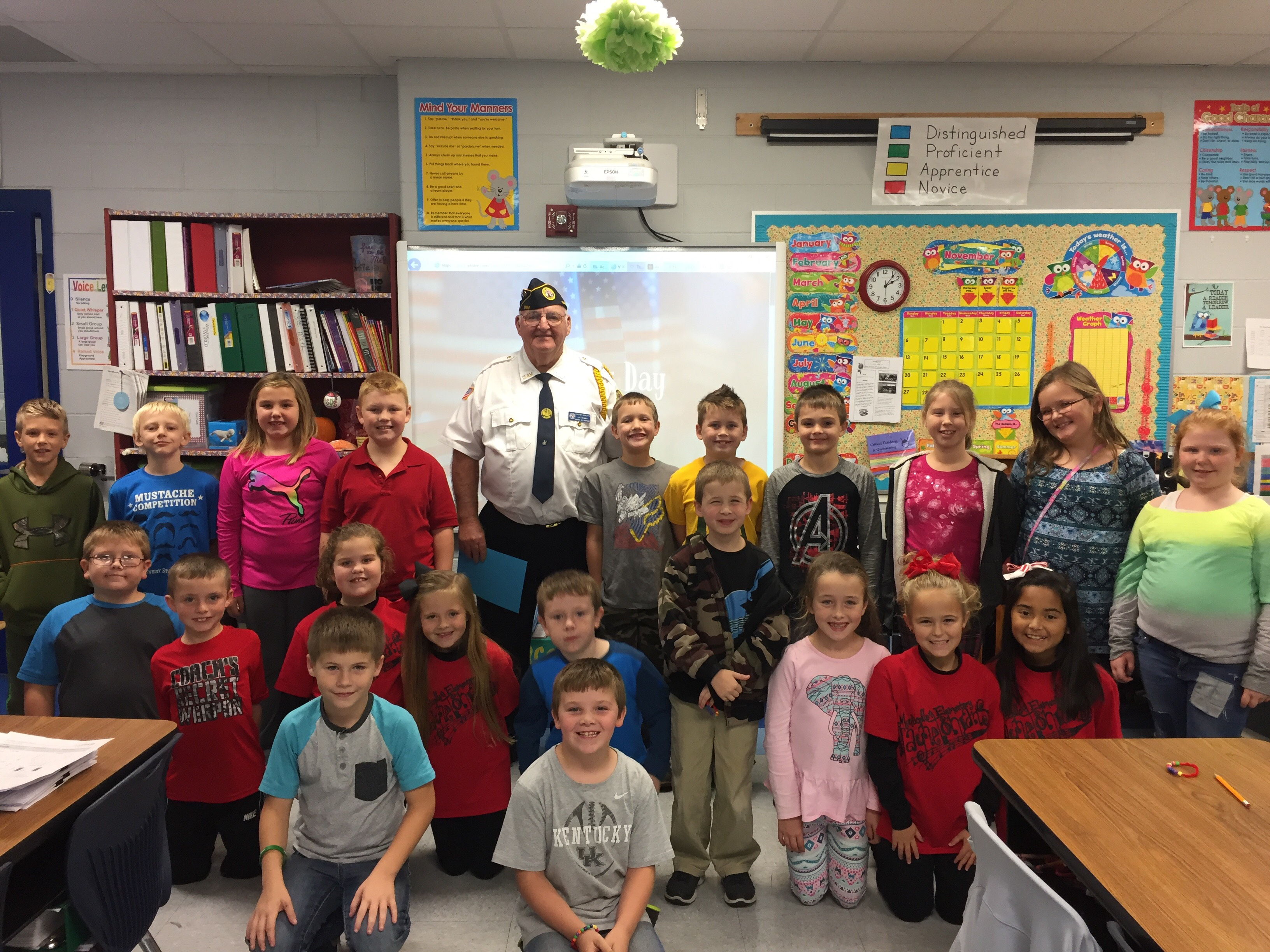 The students appreciated learning about his experience as a veteran