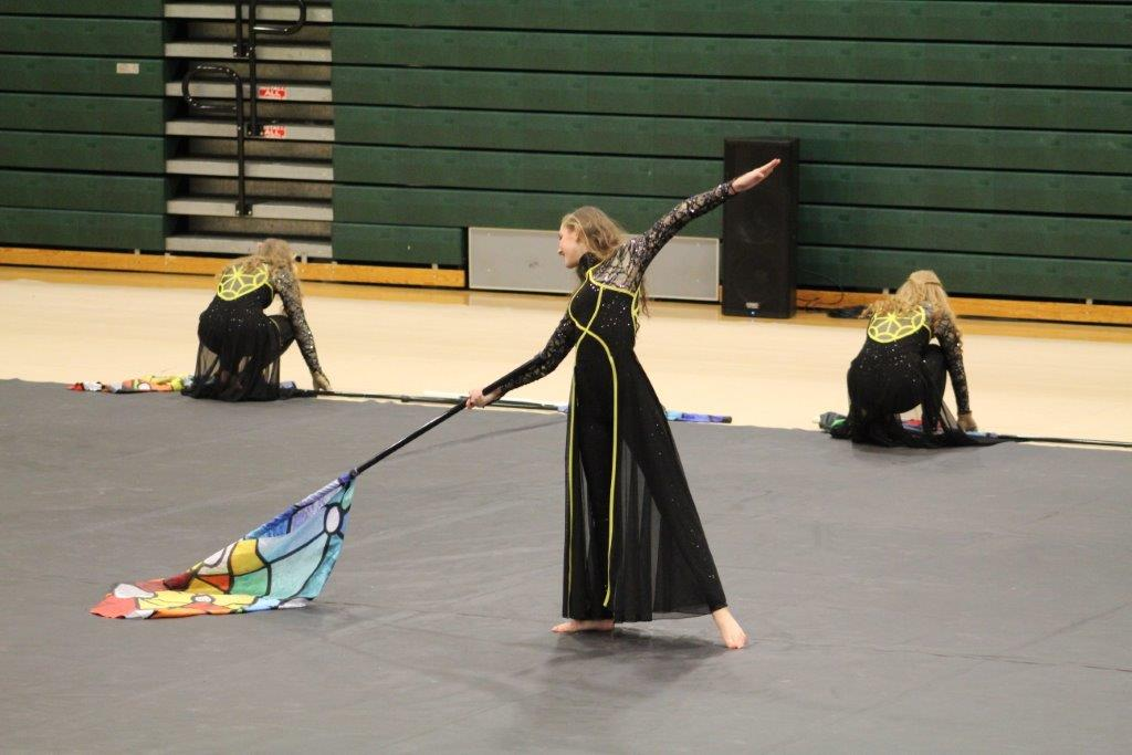 Winter Guard performs