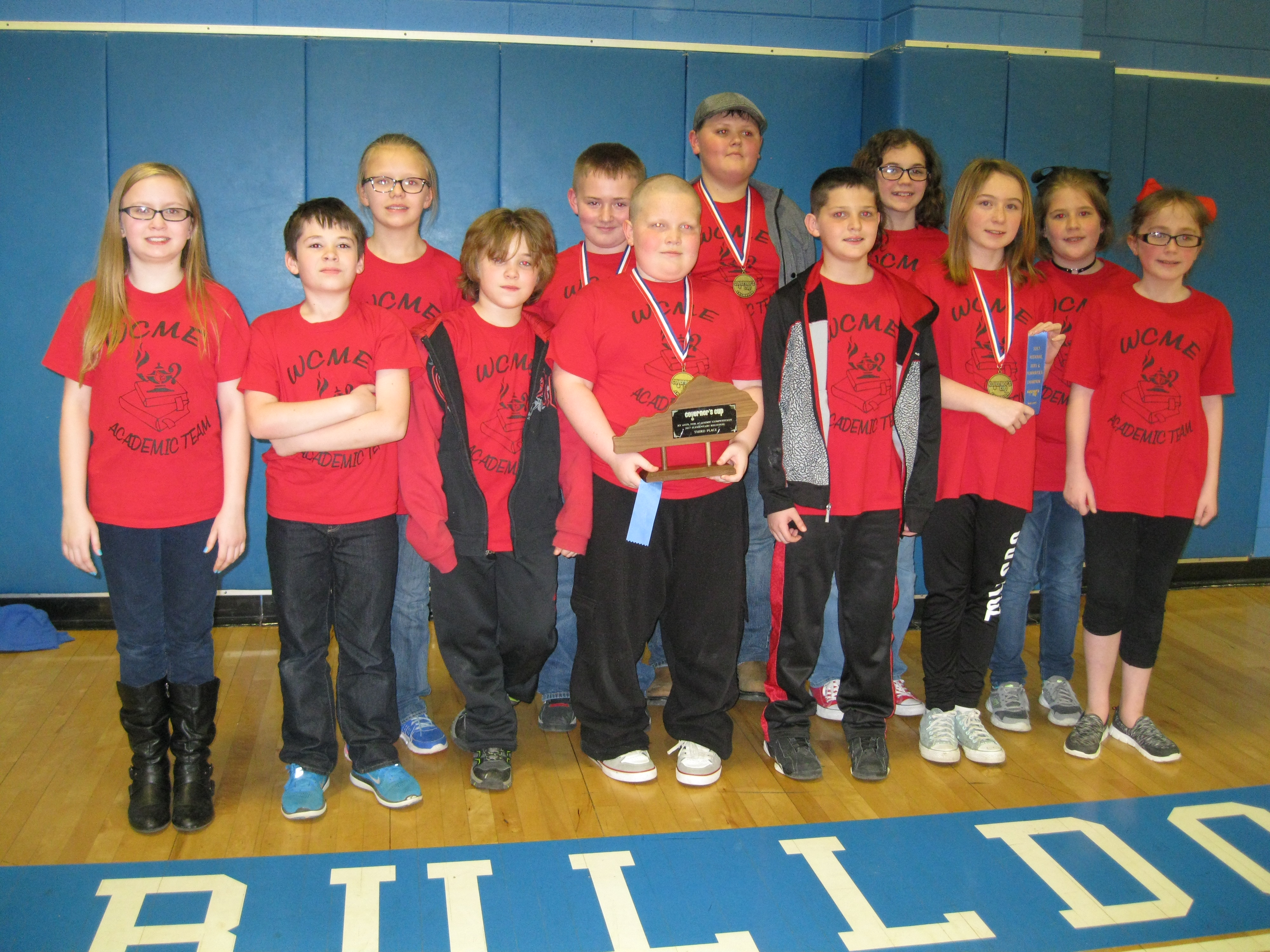 WCME Academic Team wins third place overall for the Governor's Cup Competiton, which was held at Clinton County Middle School