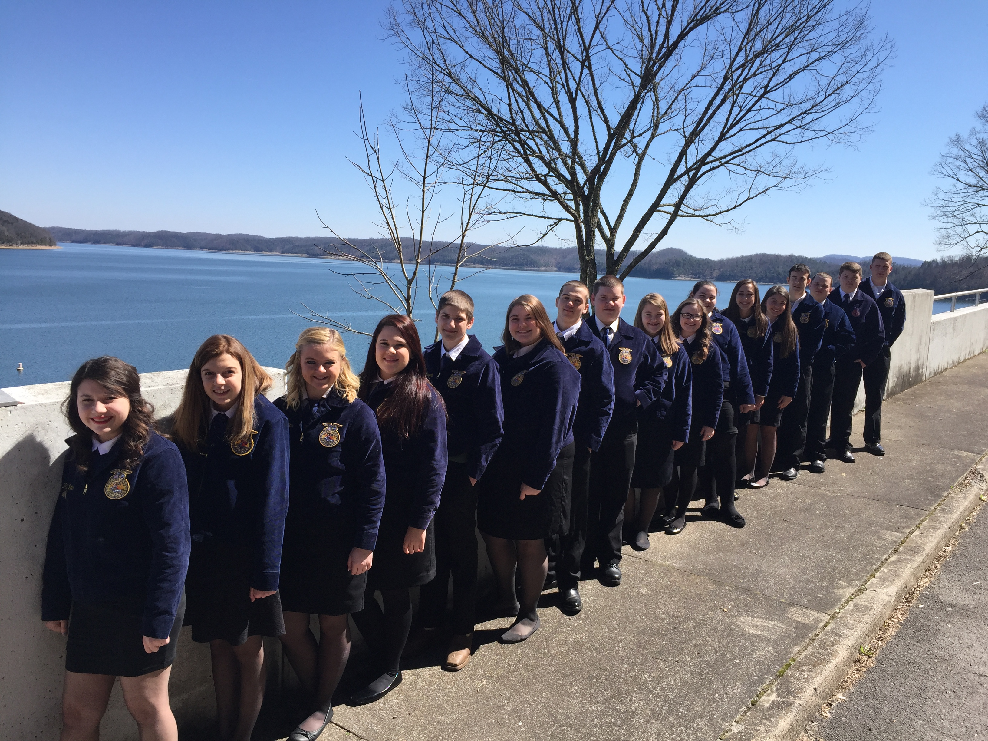 FFA members enjoyed a rest stop at scenic Lake Cumberland