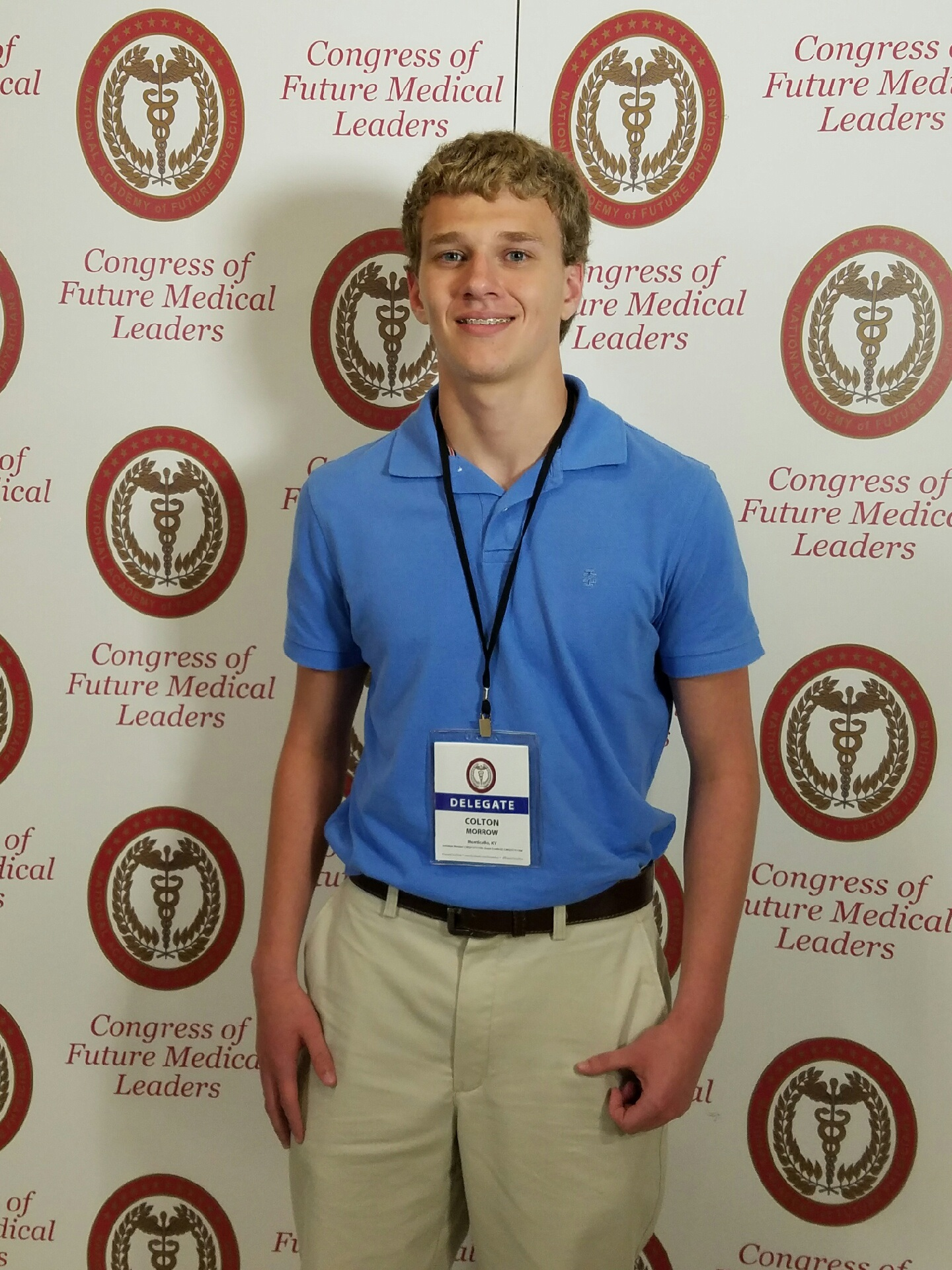 Colton Morrow attends the Congress of Future Medical Leaders
