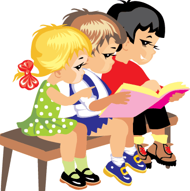 Preschoolers reading books